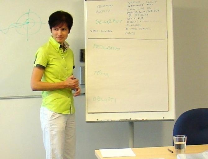 Irena během školení.