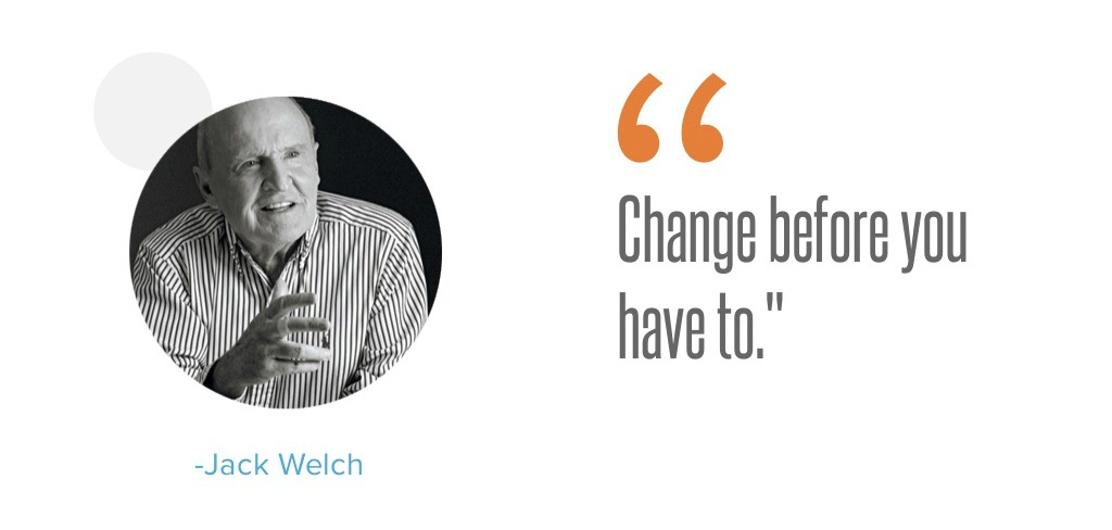 Změňte se ještě předtím, než budete muset - Welch