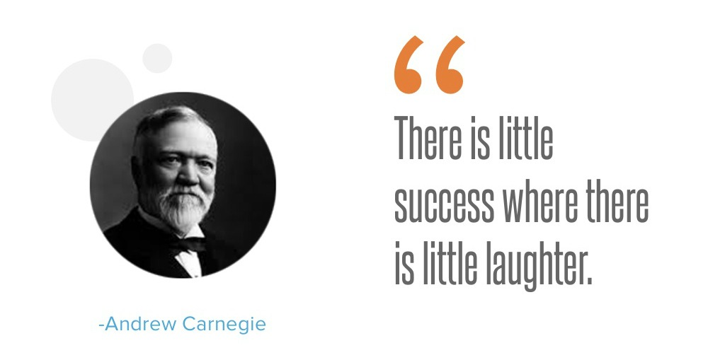 Carnegie: Kde je náznak smíchu, je i náznak úspěchu