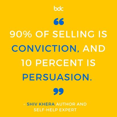 Celých 90 % úspěšného prodeje dělá přesvědčení, jen 10 % argumentace