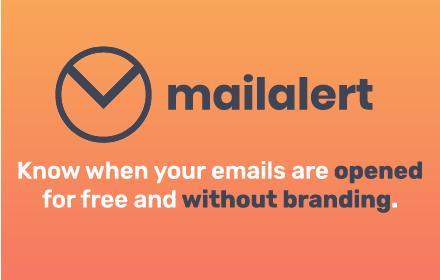 Mailalert nástroj pro sledování emailů pro Gmail a G Suite